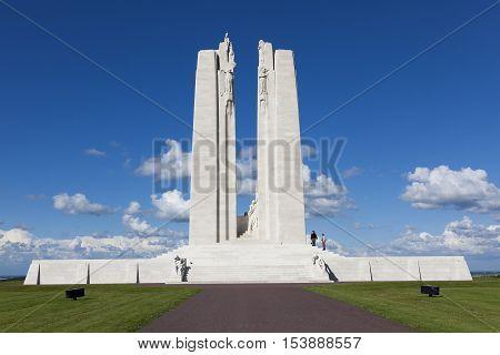 Canadian National Vimy Memorial near Givenchy-en-Gohelle Vimy Pas-de-Calais Nord-Pas-de-Calais France