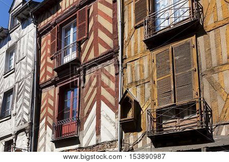 Detail of the Architecture of Rennes Britanny France