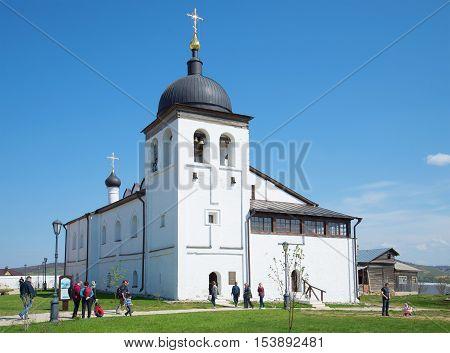 SVIYAZHSK, RUSSIA - MAY 02, 2016: The Church of St. Sergius of Radonezhkiy in St. John the Baptist monastery. Sviyazhsk