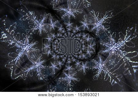 Kaleidoscopic Micro Photo Collage of Snow Crystals
