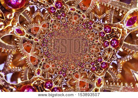 Kaleidoscopic Composition of a mechanic Clockwork Detail