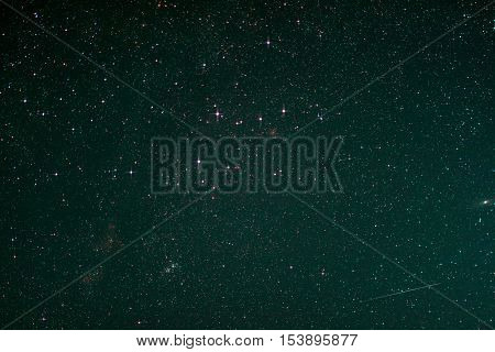 Starfield with Cassiopeia Andromeda Galaxy Milky Way and Falling Star