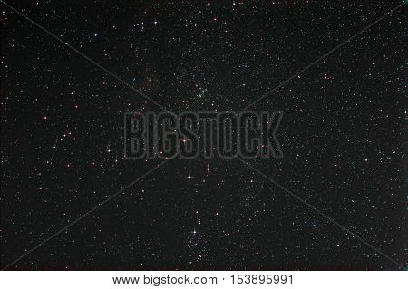 Starfield with Perseus and the  Milky Way