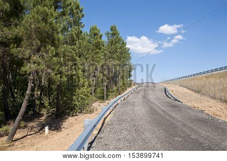 Service road next A-15 Highway Soria Spain