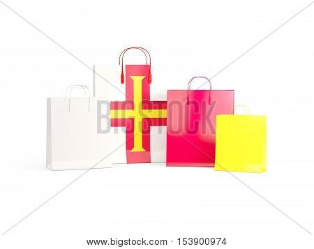 Flag Of Guernsey On Shopping Bags