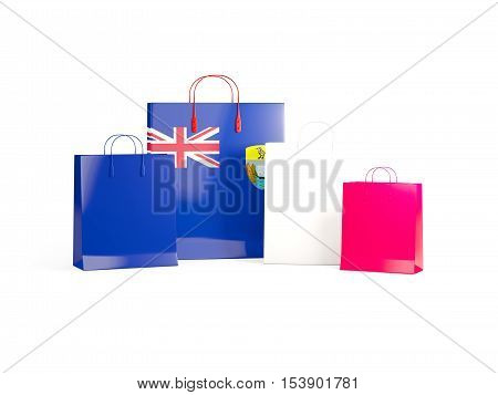 Flag Of Saint Helena On Shopping Bags