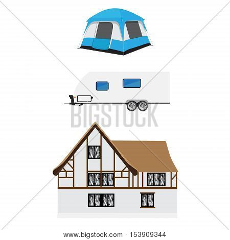 Trailer, Tent And Medieval House
