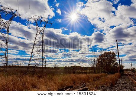 Industrial Landscape - Old Abandoned Industrial Zone In Autumn Forest