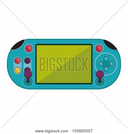 remote control for games with screen and joystick vector illustration