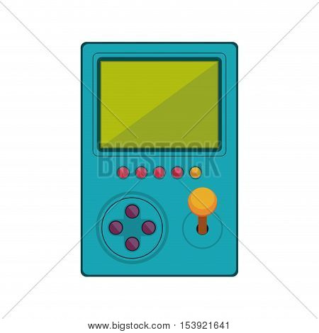 game cube remote control with screen and joystick vector illustration