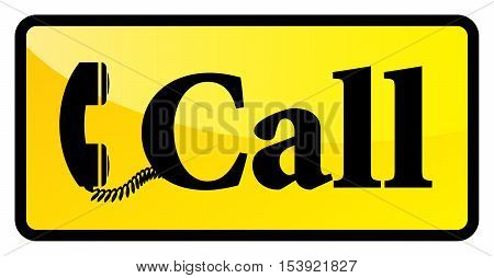 Telephone call sign or symbol, vector illustration
