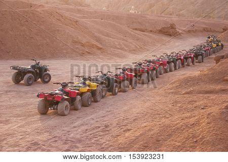 Quad Motorbike Safari In Desert, Sharm El Sheikh, Egypt