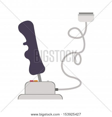 joystick with buttons for games and connector vector illustration