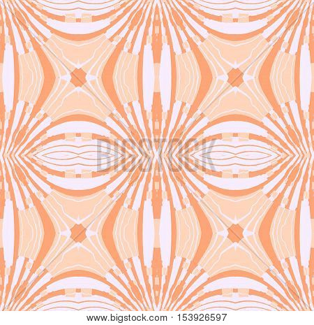 Abstract geometric seamless retro background. Regular ellipses ornaments white, beige and light brown.