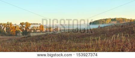 Autumn Beautiful Panoramic Rural Landscape