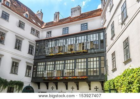House of the Teutonic Order a German-based Roman Catholic religious order Singerstrabe 7a. Vienna.