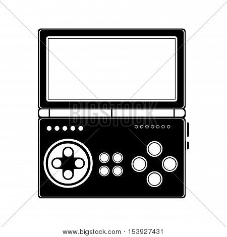 silhouette remote control for games with screen vector illustration