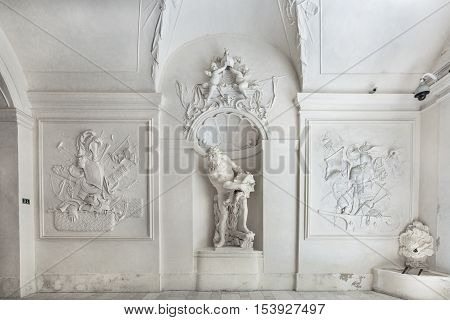 Interior Of Winter Palace  Of Prince Eugene Savoy In Vienna.