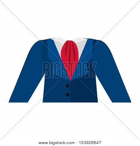 dark blue dress flight attendant vector illustration