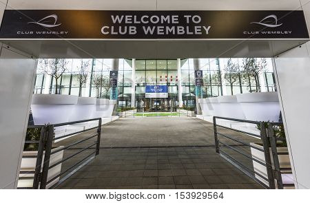 London, the UK - May 2016: Welcome to Wembley stadium