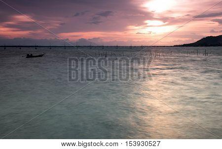Sunset at Yo Island Songkhla Province, Thailand
