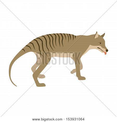 Tiger tasmanian vector illustration  flat  profile side