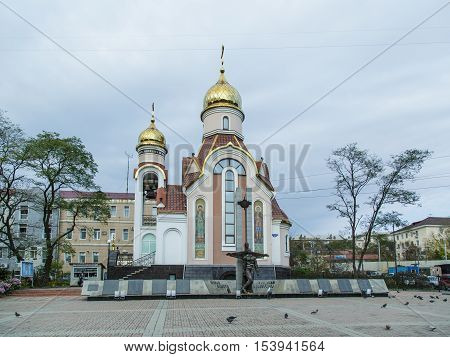 Vladivostok Russia - October 21th 2016: Vladivostok the temple