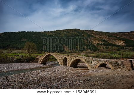 The old Roman bridge, near Nenkovo village, Bulgaria