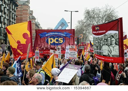 London - March 26: Protesters March Against Public Expenditure Cuts In A Rally -- March For The Alte