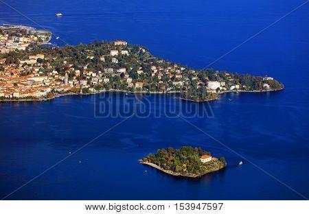 Scenic view of Isola Bella, Lago Maggiore, Italy, Europe