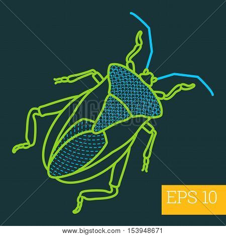 Imago Insect Outline Vector