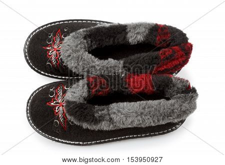 sneakers with fur on white background,i solated