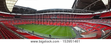 London,the UK - May 2016: panoramic view of Wembley arena