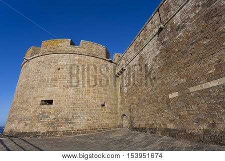 Walls of Saint-Malo in Ille-et-Vilaine Britanny France