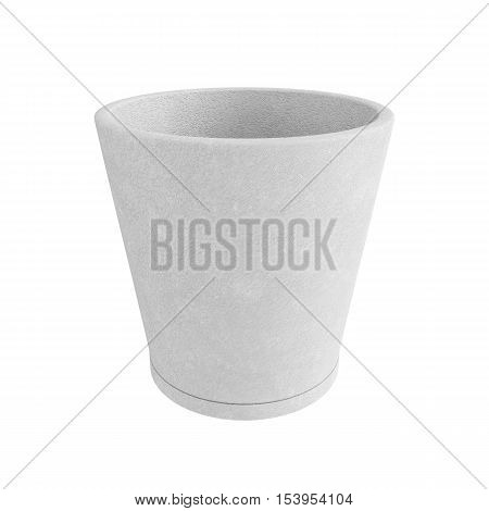 Terracotta Pot Isolated on White Background, 3D rendering