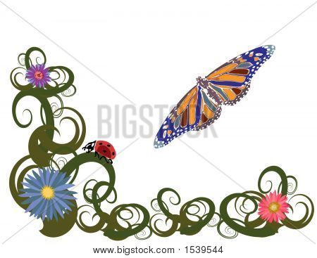 Whimsical Butterfly Garden