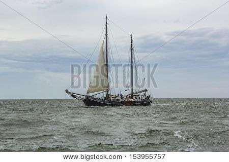 People Sail At The Vessel Aagtje