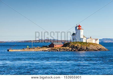 Tyrhaug Lighthouse. Coastal Lighthouse, Norway
