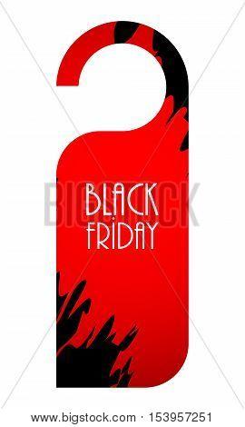 black friday label special red-black advertising label