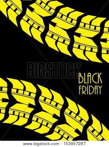 black friday background, black-yellow vector illustration, eps10