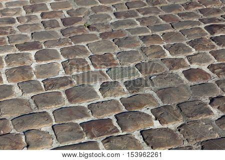 Cobblestones of Arras Pas de Calais Department Nord-Pas de Calais Picardie region France