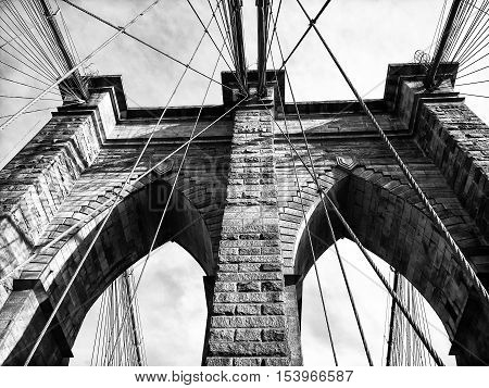 The Brooklyn bridge New York City. USA.