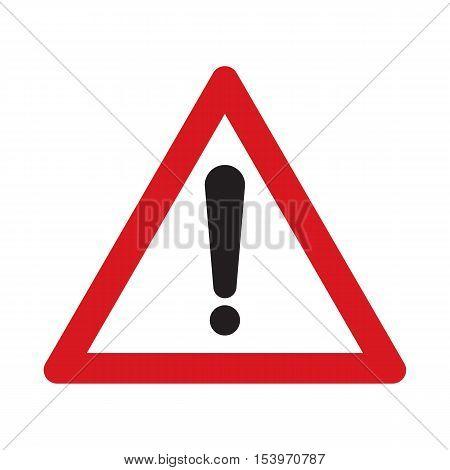 Traffic sign other danger. Danger on the road. Vector illustration.
