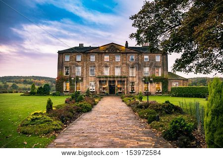 Wakefield United Kingdom - October 20 2016: Walton Hall a 4 star hotel in a scenic setting of rolling parkland with its own lake.
