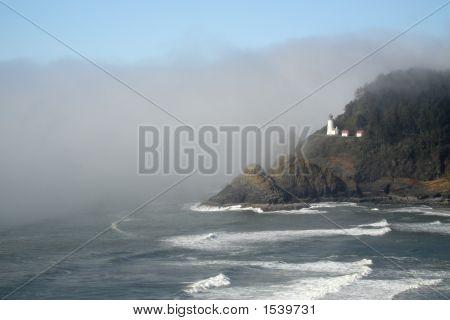 Oregon'S Heceta Head Lighthouse Fog