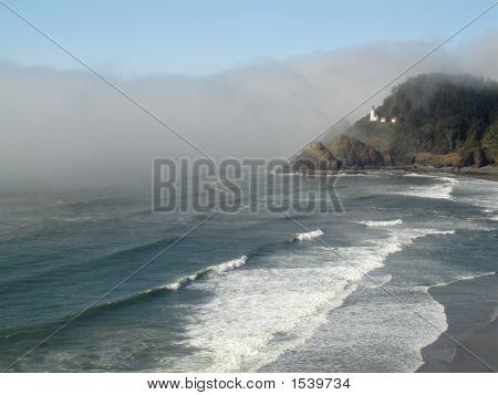 Heceta Head Lighthouse Waves, Oregon