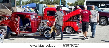 Grand Prairie Texas- Oct.29 2016 Cars for sale at local car swap meet.