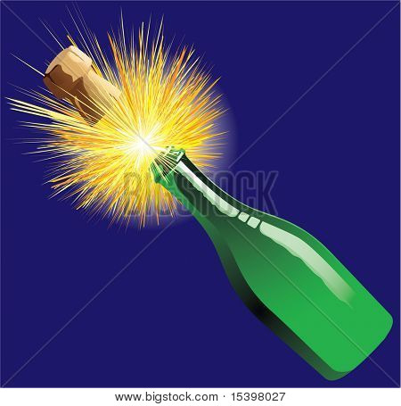 Champagne #1. Vector illustration