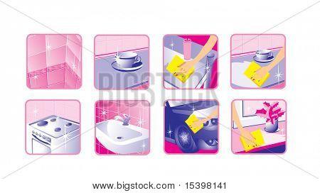 Houseware. Vector icons