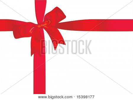 Gift ribbon. Vector illustration.